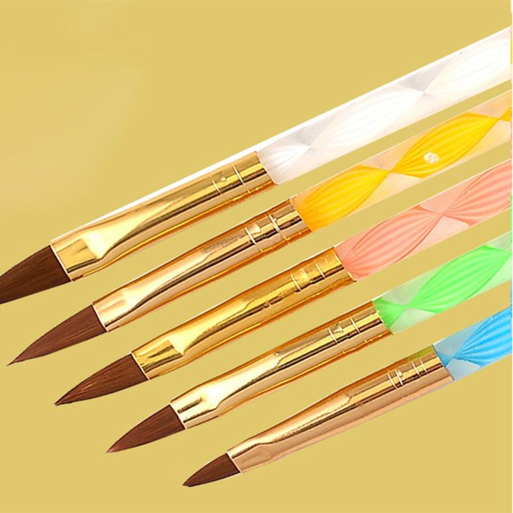 5Pcs Nail Art Brush Set for Acrylic UV Gel Builder Painting Drawing Nail Tips Brushes Pens Wholesale 100sets