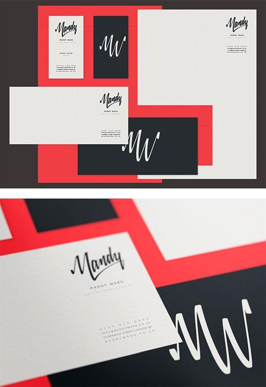 Mandy Ward Visual Identity by Matt Vergotis