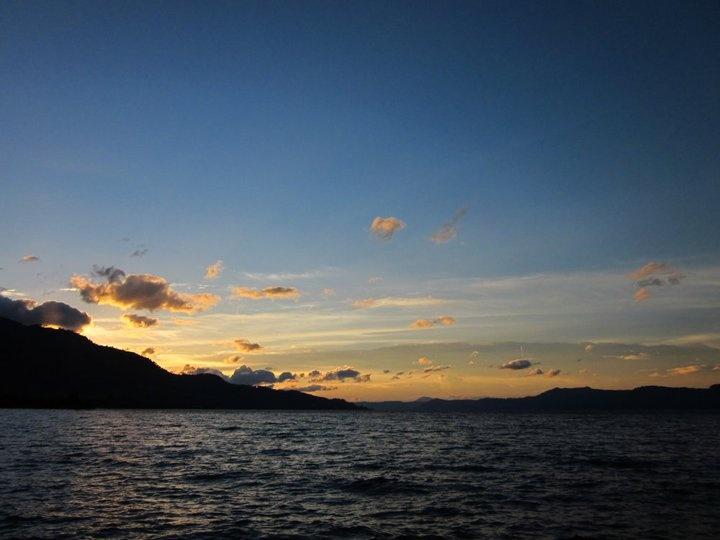Sunset over Lake Toba