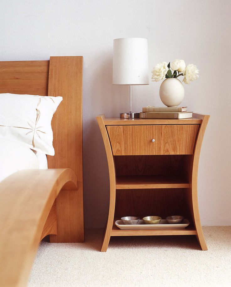 Unique brown solid wood bed side table with shelf and drawer combined with  small white shade table lamp  Unique Bedside Table For Decorate Your Lovely   55 best Individual Bedroom Furniture images on Pinterest   Bedroom  . Good Quality Bedroom Furniture Nz. Home Design Ideas