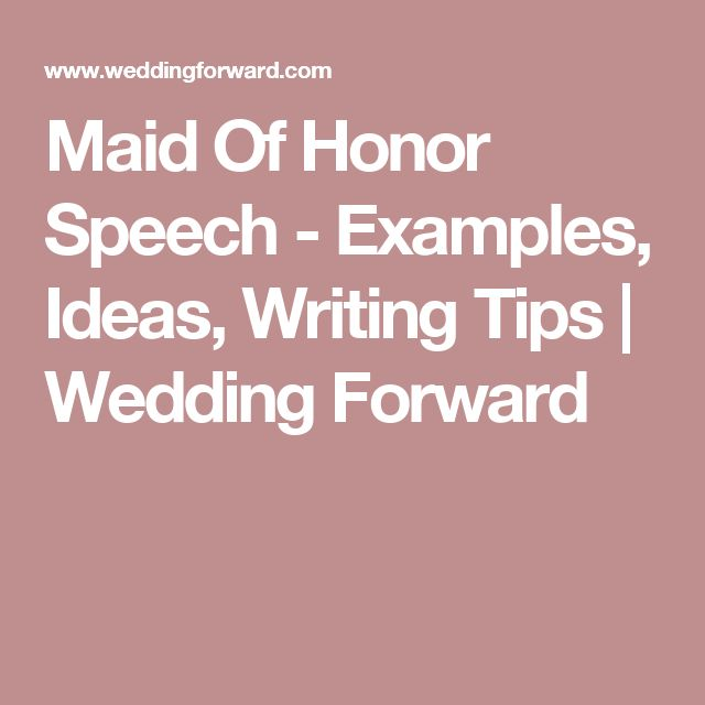 25+ Best Ideas About Bridesmaid Speech Examples On