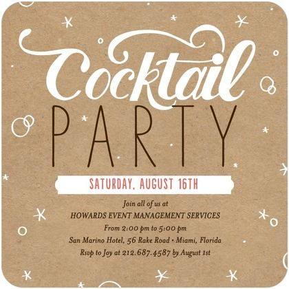 super cute kraft paper cocktail party invites from tinyprints