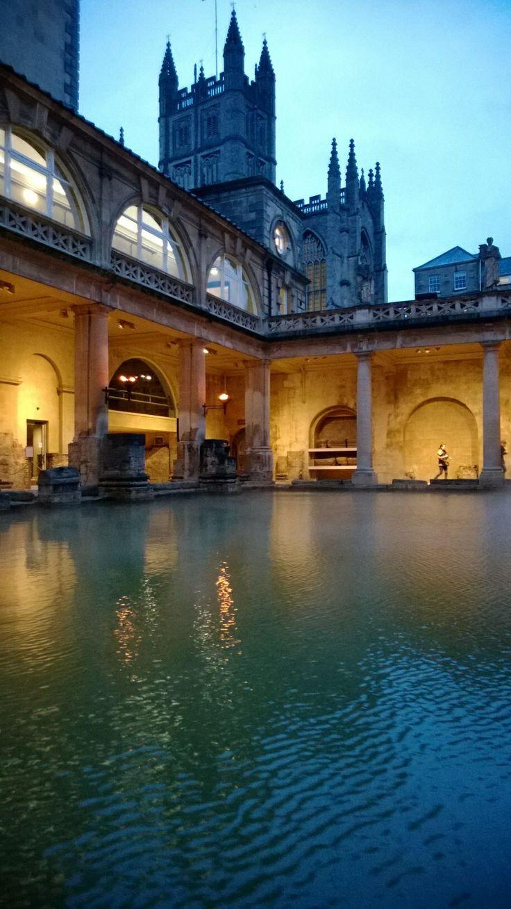 Romain temple at city of Bath