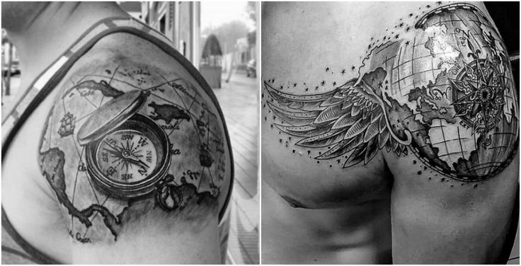 12 tatuajes en los hombros para hombres que están cansados de lo mismo 5 Tatoos, Image, Geometric Tattoos, Interesting Tattoos, Tattoos For Men, Skulls, Tattos