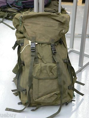 Olive Bergen  Genuine Issued Army Surplus Long & Short Back Rucksacks Used