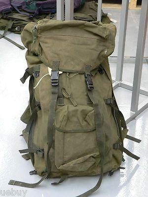 Olive Bergen  Genuine Issued Army Surplus Long & Short Back Rucksacks Used