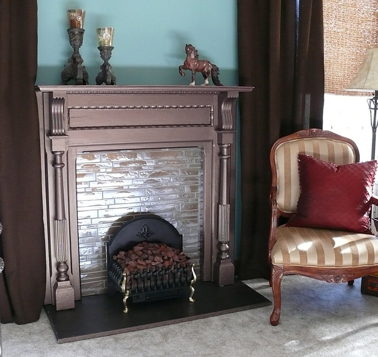 A great alternative to space heaters vintage fireplace for Alternative fireplaces