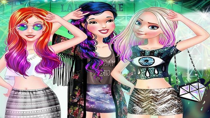 Em Princesas no Festival de Moda, as lindas Princesas Ariel, Elsa e Branca de Neve vão um grande festival de moda ao redor do mundo. Elas precisam estar lindas e maravilhosas para esse grande evento. E sua tarefa é ajudar nossas princesas escolher a roupa mais bonita e fashion para cada desfile. Divirta-se!