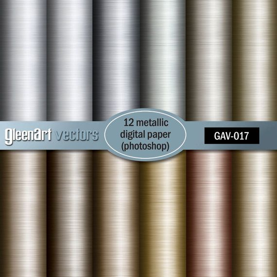 Metallic digital paper with gold / metal / bronze / by GleenArt