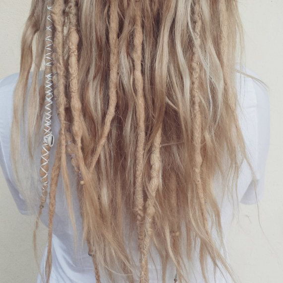 Human Hair Blonde Dreadlocks Day of the Dreads by DAYOFTHEDREAD