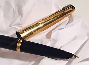 Penna Stilografica Fountain Pen Vintage '70 PARKER 45 GT CUSTOM Nera Nib Gold | eBay