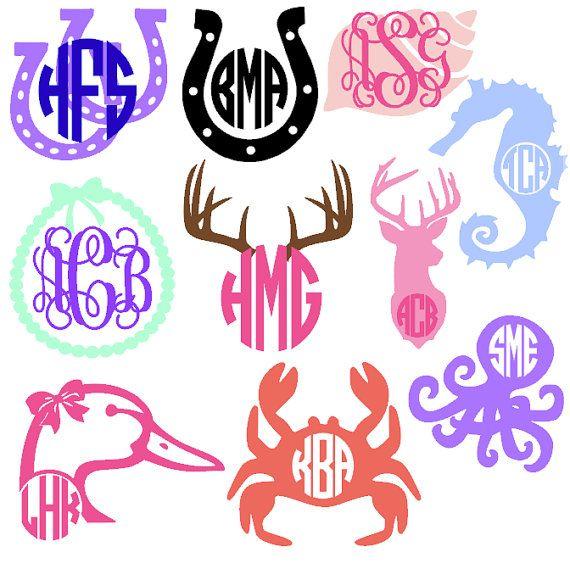 Best Vinyl Monogram Tshirt Ideas Images On Pinterest Vinyl - Monogram car decal anchorbestmonograms ideas only on pinterest monogram letters
