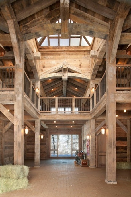 Acquired objects barn interiors barns conversions for Barn home interiors