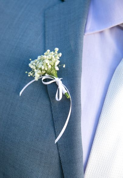 Baby's breath boutonierre- Mitheo Events   Concept Events Styling