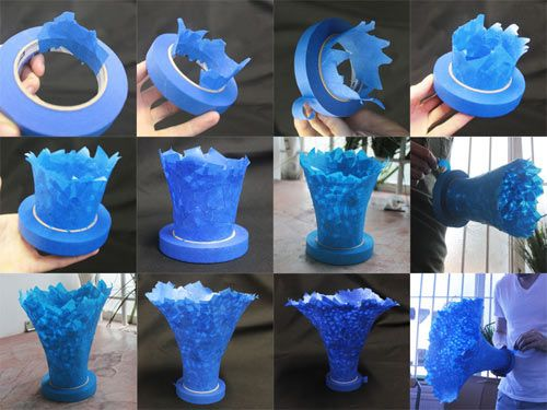 dominic wilcoxs giant scotchblue tape flower sculpture