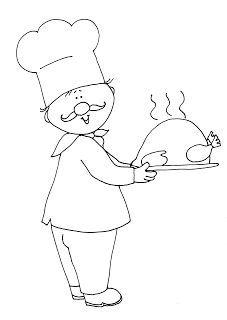 Kuchař- omalovánka