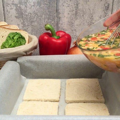 La quiche de pan de caja