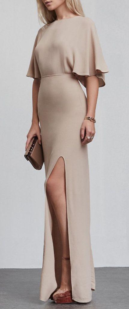 Minimalist champagne gown