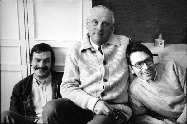 Сергей Михалков и его сыновья Никита и Андрей.