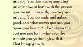 Intimacy Brings Growth