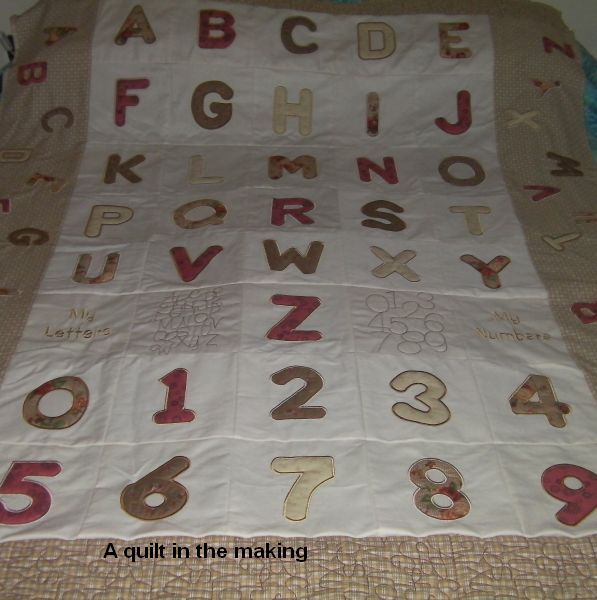 My Letters - a set of padded applique letters and numbers - created by JHB Creations - designs available for purchase from OPW Mall http://www.oregonpatchworks.com/items.php?did=113482&pid=1600626