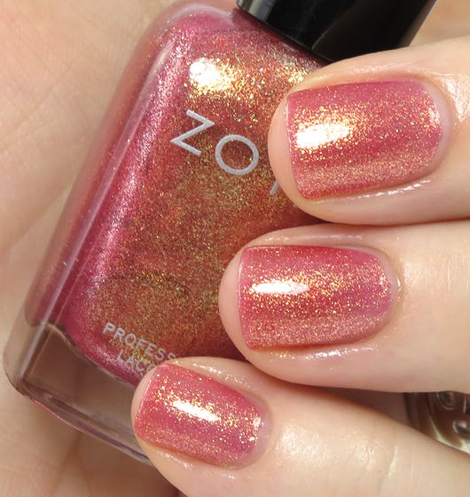 ZOYA Tinsley - soo pretty - one coat goes on much lighter than this and is nice too. Very sparkly but smooth