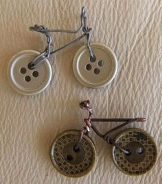 This Miniature bikes are a great accessory for your Fairy Garden. Made out of Buttons, cooper and silver wires !! Amaizing Easy Cute DIY Project - Gardening Living - New Gardening Ideas
