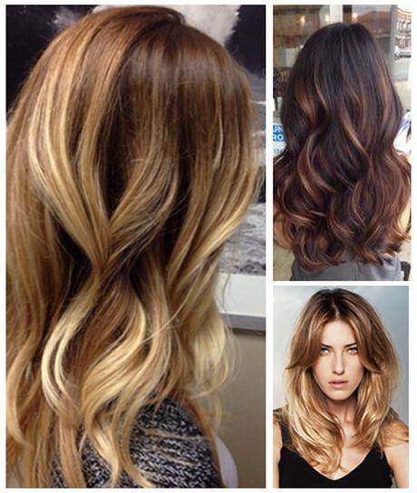 Haar kleuren blond naar bruin