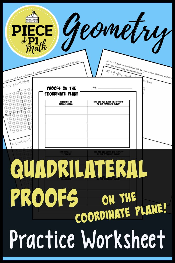 Quadrilateral Proofs On The Coordinate Plane Coordinate Plane Quadrilaterals Geometry Activities High School [ 1102 x 735 Pixel ]