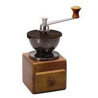 Hario  functional and retro style grinder. Freshly-ground coffee for your tasty cup.