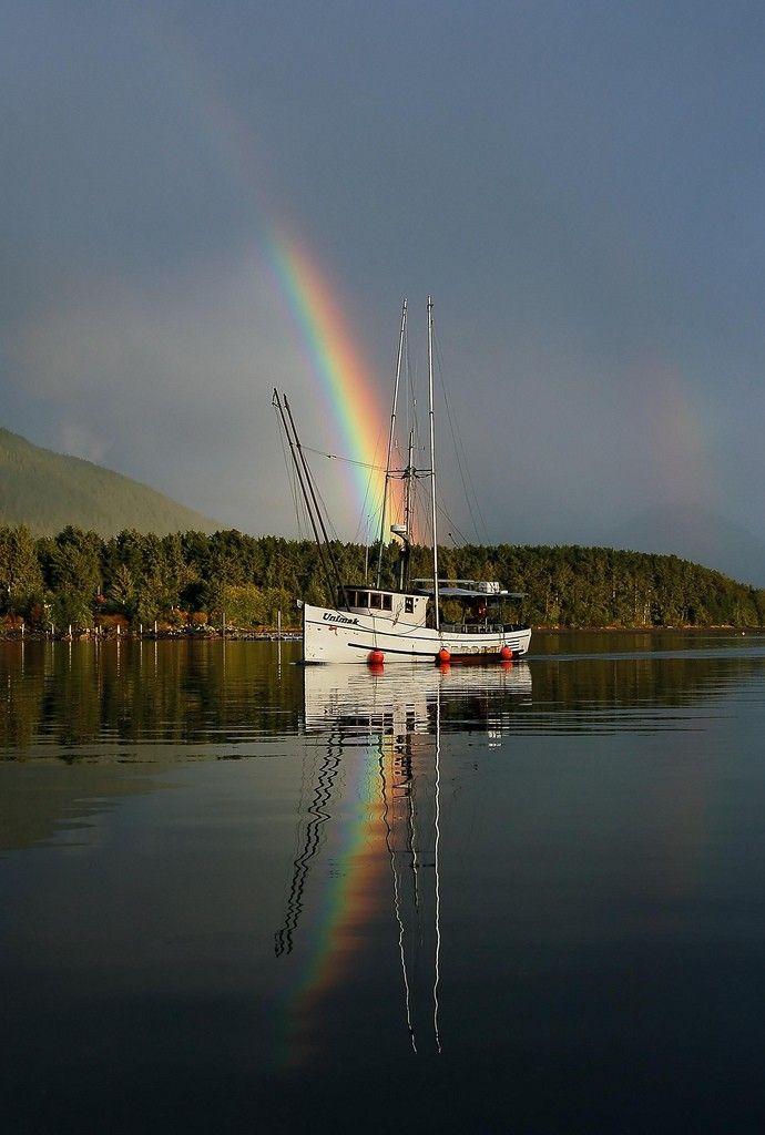 Alaska Fishing Boat - Technicolor Rainbows.  via Etsy.