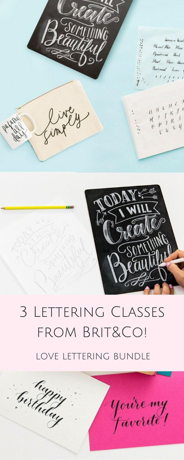 3 Incredible Online Lettering Classes from Brit&Co.