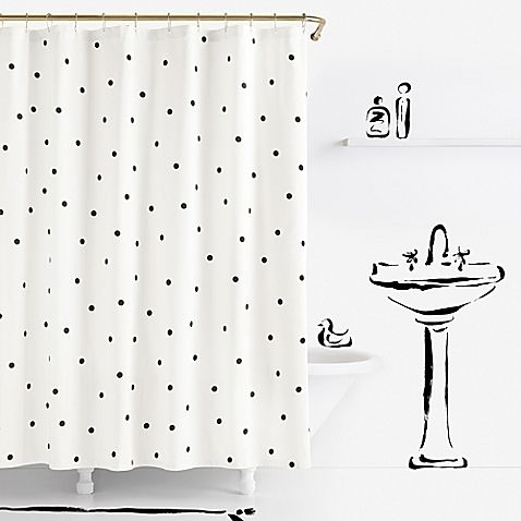 Boasting Spot On Style, The Kate Spade Deco Dot Shower Curtains Is A Fun