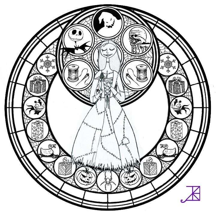 The Nightmare Before Christmas Coloring Sheets Elegant 154 Best Coloring Images On Pinterest Disney Stained Glass Mandala Coloring Pages Disney Coloring Pages