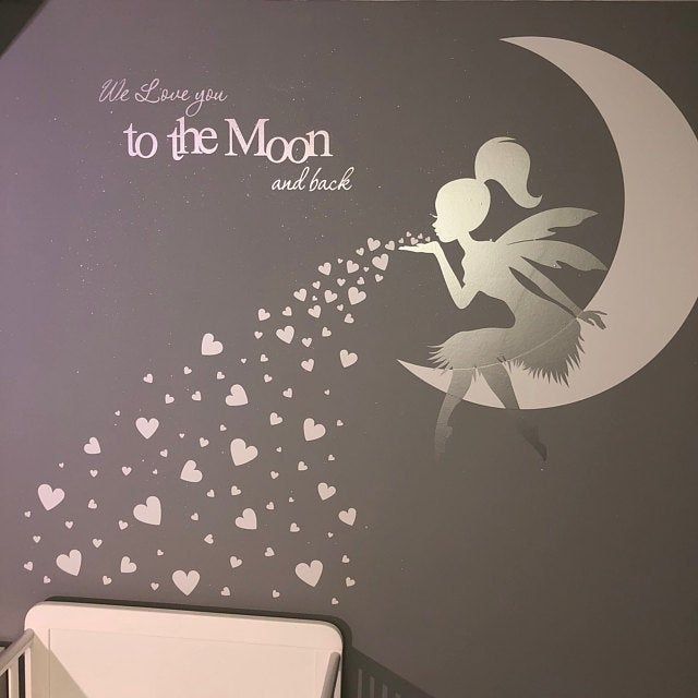 Fairy Moon Star Wall Art Stickers Window Sticker Many Colours 66