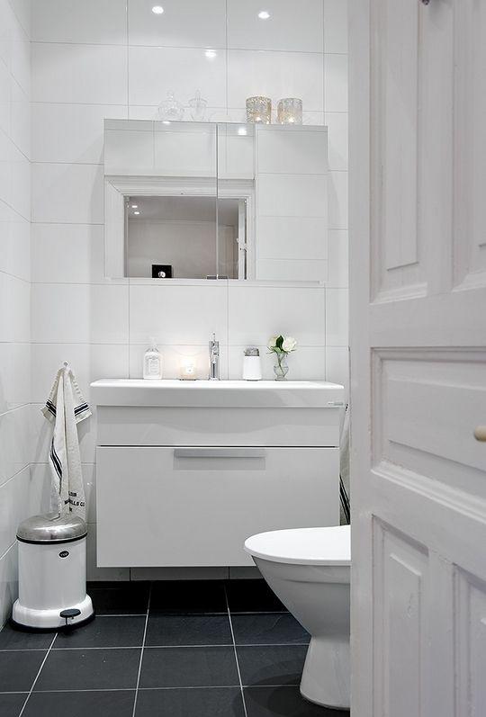 Bathroom - mirror cabinet and storage under the sink