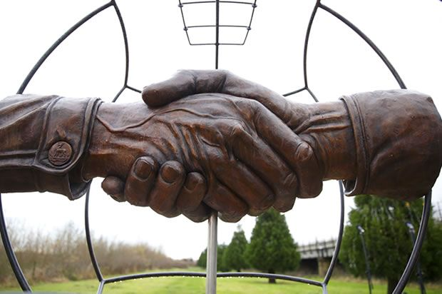 British memorial commemorating the 1914 Christmas Truce (Credit: Max Mumby/Indigo/Getty Images)