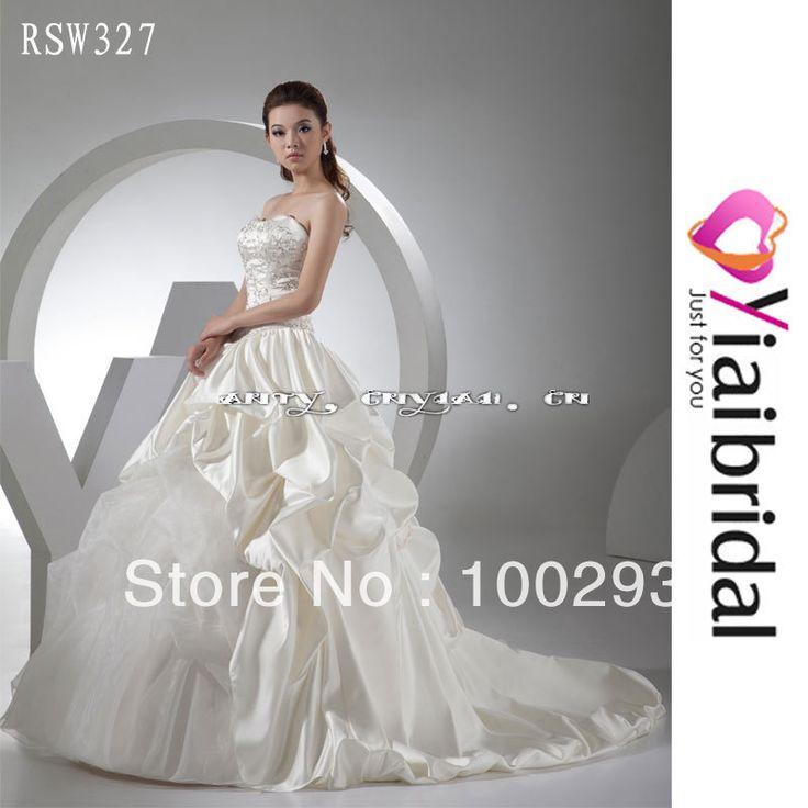 Rsw327 вышивка бальное платье свадебное платье с декольте реальный образец в наличии дешевой цене , но высокое качество