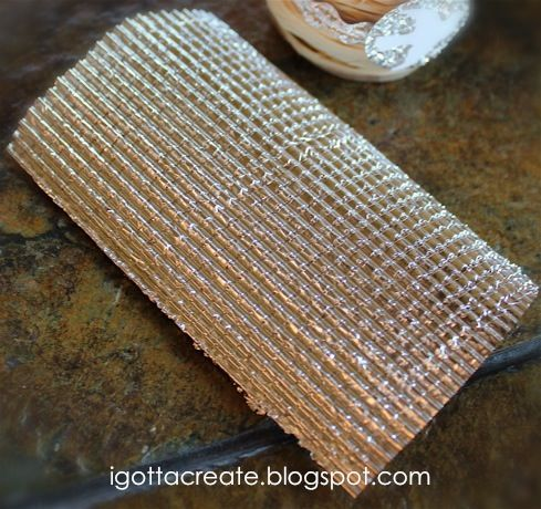 this is aluminum foil.  this blog has some killer ideas on how to use this typical household product to jazz up your crafts...