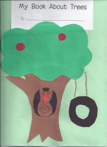 non-fiction book about trees for kids to write