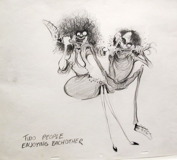 Two People Enjoying Each Other by Tim Burton