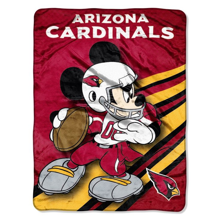 Great sports fans start at a young age......Arizona Cardinals & Quarterback Mickey Mouse Blanket Throw