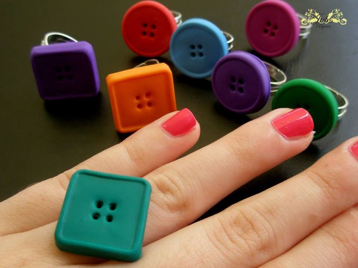 anelli #fimo bottoni #handmade #julesbijoux#polymerclay