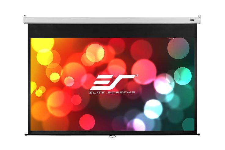 Elite Screens Manual SRM Pro, 120-inch 16:9, Slow Retract Pull Down Projection Manual Projector Screen, M120HSR-Pro