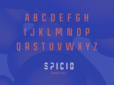 S P I C I O [Form Space] • Custom Typography