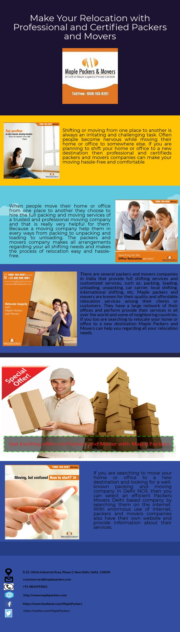 When you hire professional packers and movers then surely your relocation is hassle-free because moving company takes your entire burden of shifting process. This infographic provides information about how to choose best packers and Movers Company.  #infographic #packers_and_movers