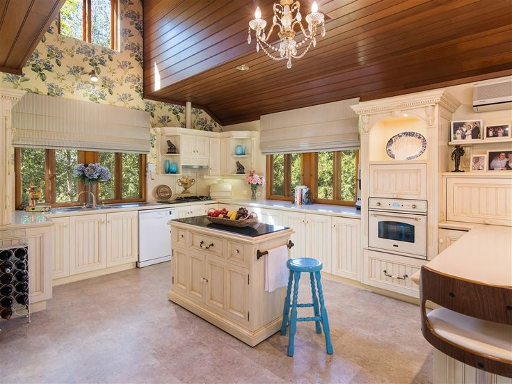 Large French Provincial kitchen with walk-in pantry & dumb waiter 20 Pike Street   Adelaide Hills   Australia   Luxury Property Selection