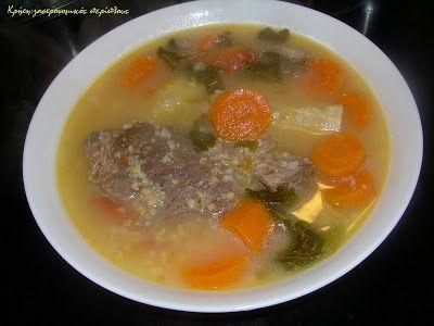Κρήτη:γαστρονομικός περίπλους: Κρεατόσουπα με λαχανικά και ξινόχοντρο