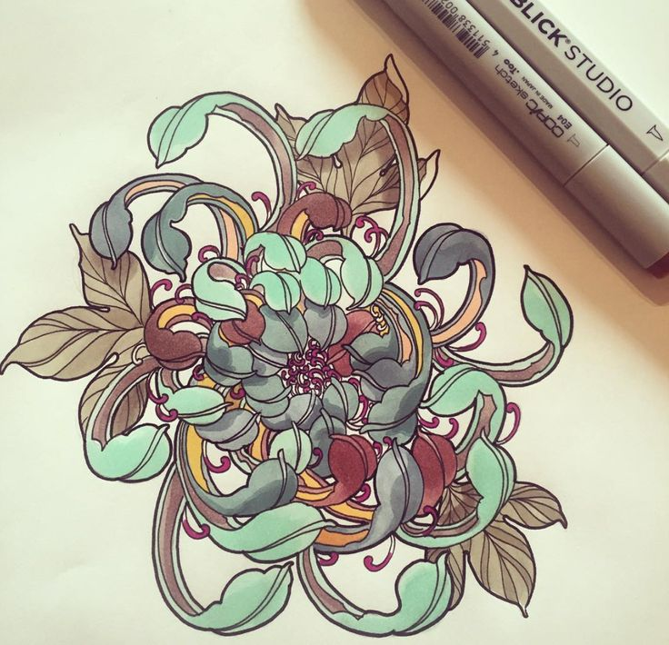 #illustration #woman #girl #neotraditionel #traditionel #traditional #draw #drawing #tattoo #ink #tattooed #inked #sketch #sketches #men #man #flowers #animals #roses peony chrysanthemum blue colors