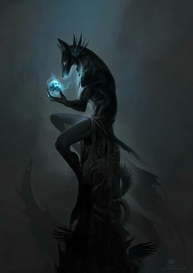 Anubis- Egyptian Lord of the Dead, Ruler of the Scales in the Afterlife husband to the goddess, Anput. He is associated with the Fetish, the flail, Jackel, mummification, Keeper of Knowledge and Conductor of Souls.